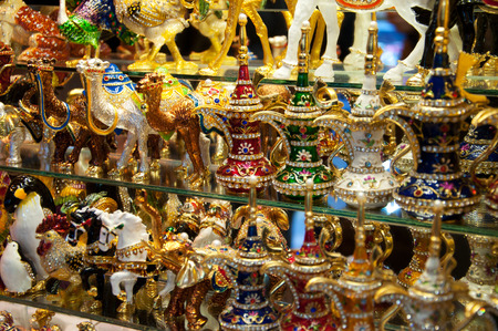 handmade knickknacks on the grand bazaar in istanbul, turkey photo