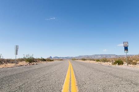 faded: Route 66 the Mother Road, California, Arizona, USA