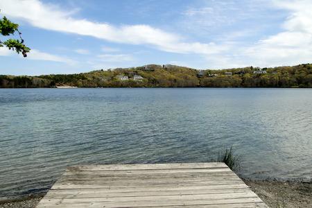 wampanoag: Scargo Lake dock Dennis Massachusetts Cape Cod