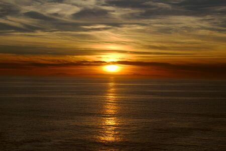 southern california: Sunset over the ocean in Laguna Beach Southern California