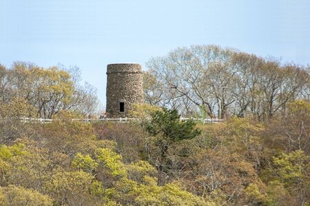 wampanoag: Scargo Tower near Scargo Lake Dennis Massachusetts Cape Cod Stock Photo