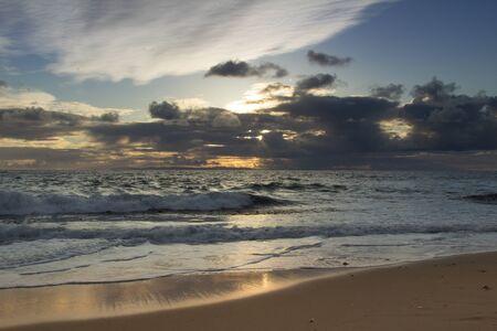 southern california: Sunset over the ocean at Pearl Street Beach in Laguna Beach Southern California Stock Photo