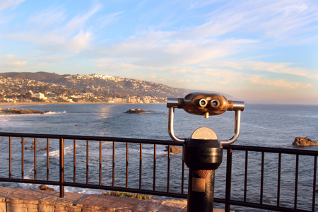 voyeur: A viewfinder overlooks the Laguna Beach coastline in Southern California
