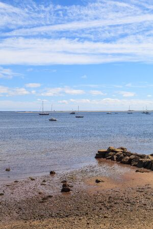 cape cod home: Provincetown, Massachusetts, Cape Cod  beach and ocean view with jetty.