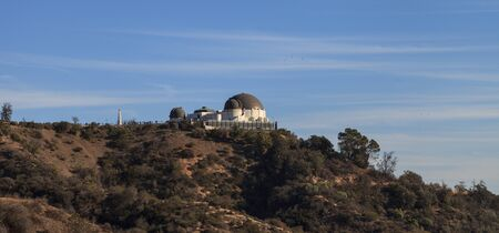 griffith: Los Angeles, California, January 1, 2016: Los Angeles skyline from the Griffith Observatory in Southern California, United States. Editorial use Editorial