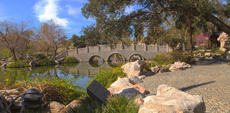 chinese garden: Chinese garden at the Huntington Botanical Garden and Library in Los Angeles