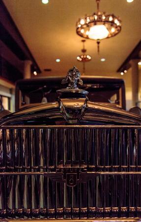 speedster: El Segundo, CA, USA - September 26, 2016: 1928 Stutz 8 BB black hawk speedster displayed at the Automobile Driving Museum in El Segundo, California, United States. Editorial use only.