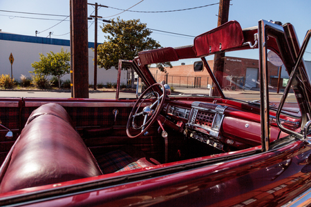 El Segundo, CA, USA - September 26, 2016: 1947 Chrysler Windsor displayed at the Automobile Driving Museum in El Segundo, California, United States. Editorial use only.