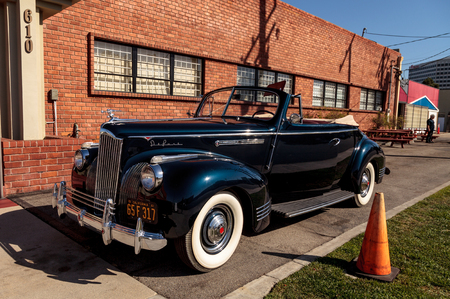 coupe: El Segundo, CA, USA - September 26, 2016: 1941 Packard 110 Convertible Coupe displayed at the Automobile Driving Museum in El Segundo, California, United States. Editorial use only.