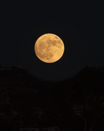Super moon over Laguna Beach, California, United States