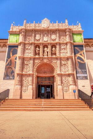 San Diego, CA, USA - May 20, 2017: San Diego Museum of Art building at the Balboa Park in San Diego. Editorial use. Editorial