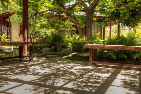 San Diego, CA, USA - May 20, 2017: Tranquil Japanese Friendship Garden at the Balboa Park in San Diego. Editorial use.