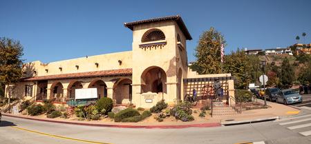 San Diego, CA, USA – November 28, 2017: Mormon Battalion Historic Site in Old Town in San Diego, California on Dia de los Muertos.