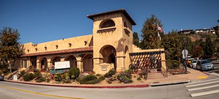 batallón: San Diego, CA, USA – November 28, 2017: Mormon Battalion Historic Site in Old Town in San Diego, California on Dia de los Muertos.
