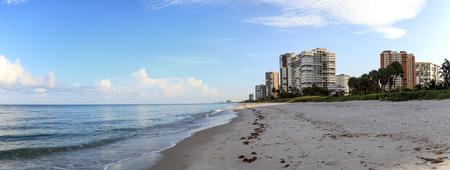 Sunrise over the beach of Clam Pass along the coast of Naples, Florida