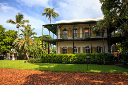 Key West, Florida, USA - September 1, 2018: Ernest Hemingway's House in Key West, Florida. For editorial use.