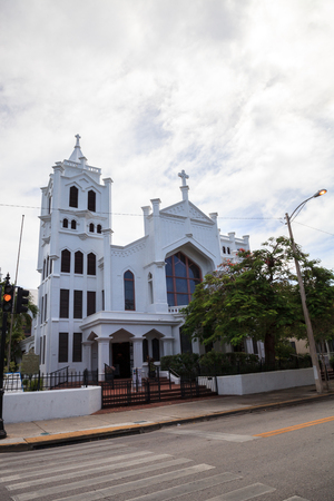 Key West, Florida, USA - September 1, 2018: St. Paul's Episcopal Church on Whitehead Street in Key West, Florida. For editorial use. Editorial