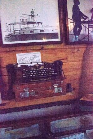 Key West, Florida, USA - September 1, 2018: Typewriter at Ernest Hemingway's House in Key West, Florida. For editorial use.
