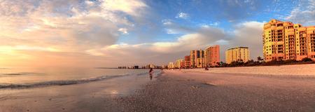 Blue sky over South Marco Island Beach in Florida