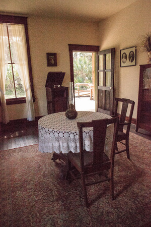Estero, Florida, USA - February 23, 2019:  1904 Planetary Court, Campbell-Trebell Meeting Room at historic Koreshan State Park. Editorial