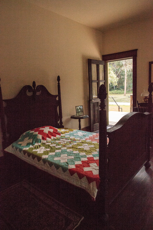 Estero, Florida, USA - February 23, 2019:  1904 Planetary Court, Evelyn Trickett Bubbett Room at historic Koreshan State Park.