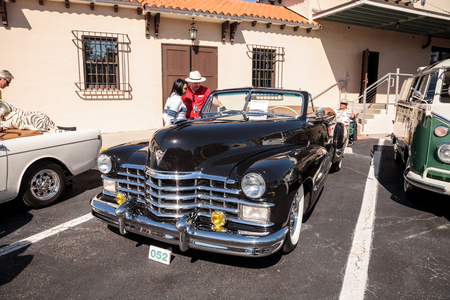 Naples, Florida, USA – March 23,2019: Black four-door 1939 Chevy Master at the 32nd Annual Naples Depot Classic Car Show in Naples, Florida. Editorial only.