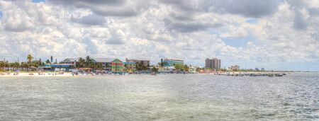 Panoramic of Fort Myers Beach in Fort Myers, Florida 版權商用圖片