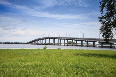 Edison Bridge over the Caloosahatchee River in Fort Myers, Florida.