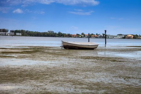 Dock and loan boat at Ken Thompson park in Sarasota, Florida