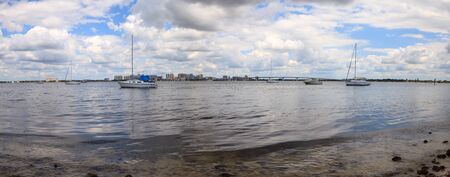 View of Boulevard of the Presidents from the Ken Thompson Boat Ramp in Sarasota, Florida.