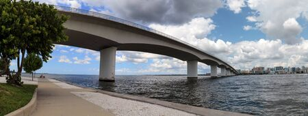 Bridge of Gulf of Mexico Drive from the park on Long Boat Key in Sarasota, Florida