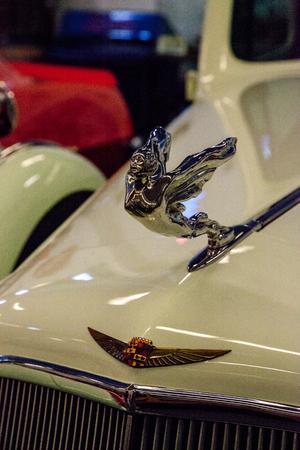 Punta Gorda, Florida, USA – October 13, 2019: Celery Stalk Green 1935 Cadillac displayed at the Muscle Car City museum. Editorial Use Stock Photo - 132991278