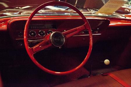 Punta Gorda, Florida, USA – October 13, 2019: Black 1961 Chevrolet Bel Air displayed at the Muscle Car City museum. Editorial Use