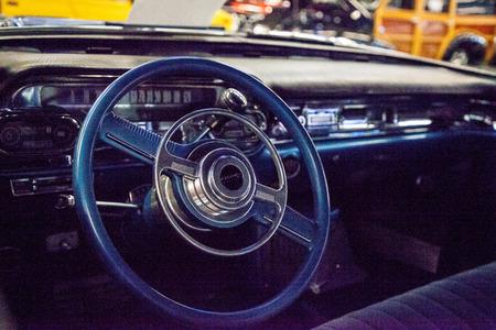 Punta Gorda, Florida, USA – October 13, 2019: Blue 1957 Cadillac Eldorado displayed at the Muscle Car City museum. Editorial Use