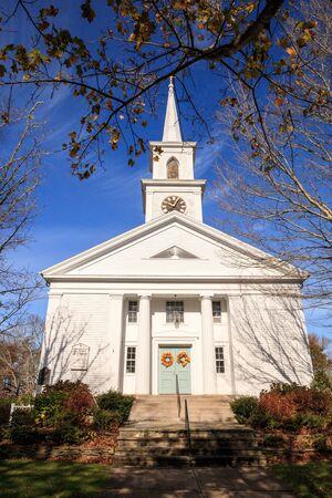 Dennis, Massachusetts, USA – November 10, 2019: Grace Church in Dennis, Massachusetts on Cape Cod. Editorial use. 스톡 콘텐츠