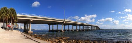 William M. Powell Bridge along Rickenbacker Causeway on the way onto Key Biscayne in Miami, Florida.