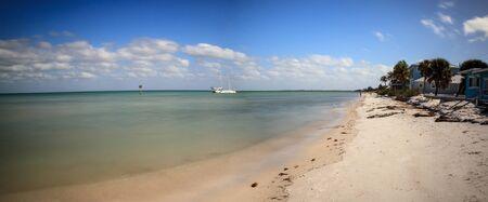 Shipwreck off the coast of Anna Maria Beach on Anna Maria island, Florida.