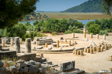 Kaunos ancient city in Dalyan valley, Turkey
