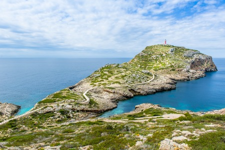 Lighthouse on Cabrera island. Balearic island, Spain