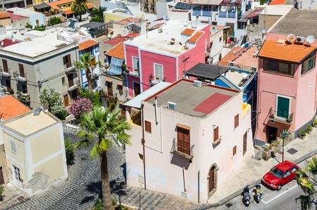 lipari: Lipari colorful old town streets. High point view.