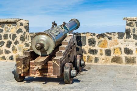 canarias: Old cannon at Islas Canarias, Tenerife, Spain