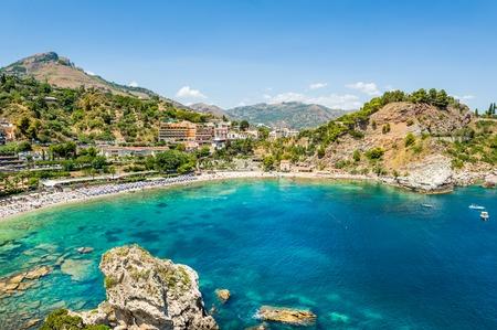 Isola Bella rocky island in Taormina, Sicily Stock Photo
