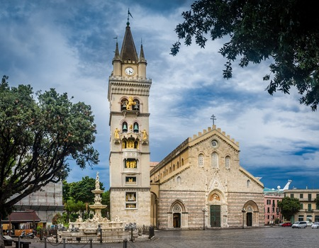 The old cathedral of Messina. Sicily, Italy
