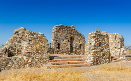 touristic: Ancient ruins near Cefalu, popular touristic city of Sicily, Italy