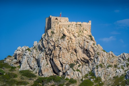 baleares: Ancient castle on the rocks. Cabrera island, Baleares, Spain