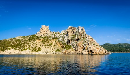 baleares: Ancient castle on the rock cape. Cabrera island, Baleares, Spain