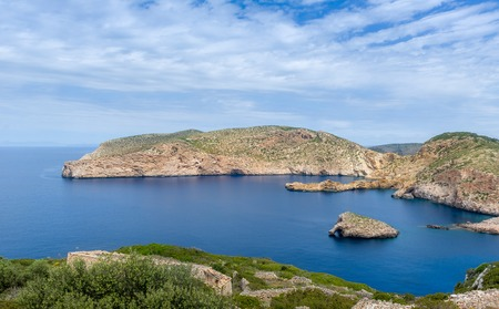 Beautiful bay inside the Cabrera island. Baleares, Spain 版權商用圖片