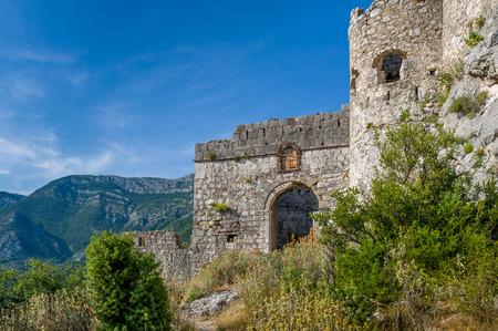 main gate: Main gate of Haj-Nehaj fortress. Sutomore village, Montenegro.