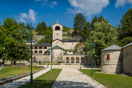 virgin: Ancient Monastery of the Nativity of the Blessed Virgin Mary in Cetinje, Popular touristic spot in Montenegro.