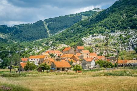몬테네그로 왕의 가족의 Negushi 역사 마을 스톡 콘텐츠
